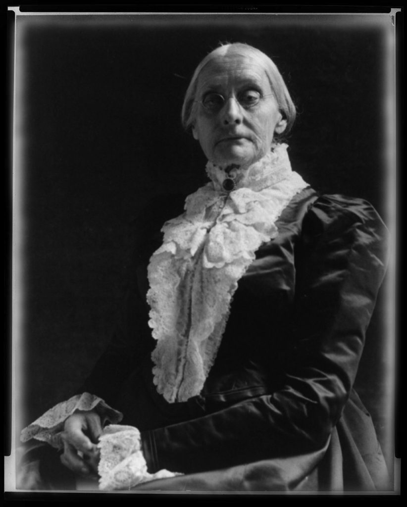 Susan B Anthony, women's suffragette