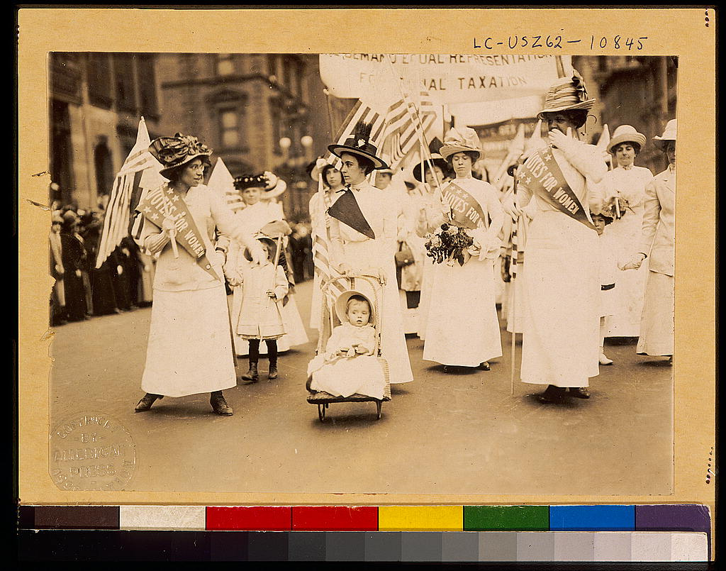 Youngest parader in New York City suffragist parade - Library of Congress-2