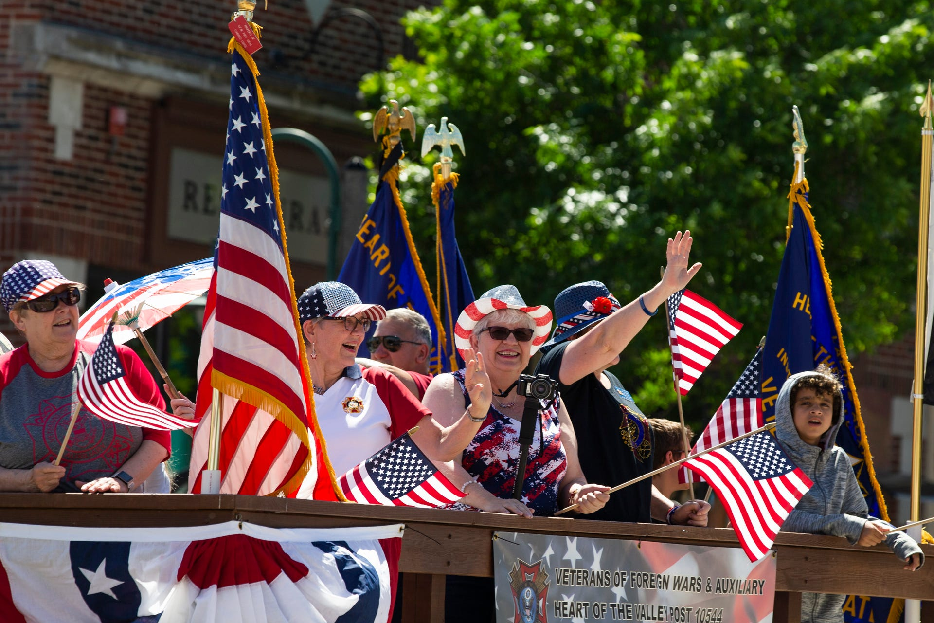Flag Day parade float