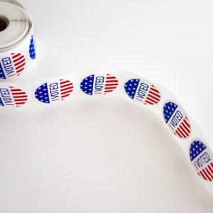 Voted sticker roll