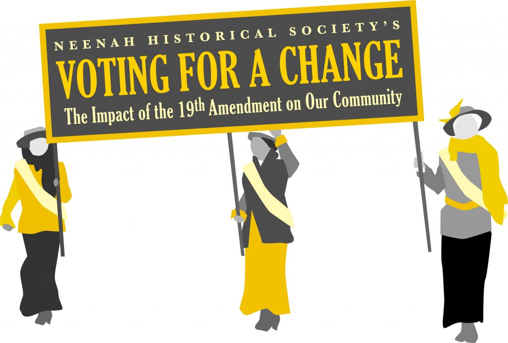Neenah Historical Society's Voting for a Change logo